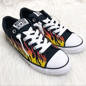 Converse All Star Flame Print Shoes